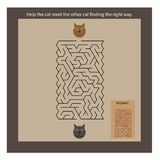 Cats maze for kids Stock Photos