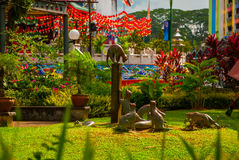 Cats monument at the downtown Kuching, Sarawak Malaysia. This monument is a landmark for Kuching city Stock Images
