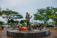 Cats monument at the downtown Kuching, Sarawak Malaysia. This monument is a landmark for Kuching city Royalty Free Stock Image