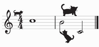 cats and music (vector) Stock Photo