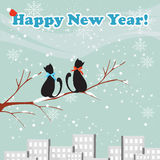Cats new year Royalty Free Stock Photography