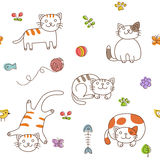 Cats pattern Stock Photos