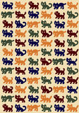 Cats pattern Royalty Free Stock Image