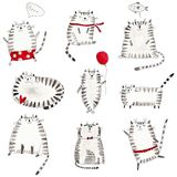Cats. Pattern Stock Image