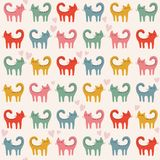 Cats pattern Stock Photo