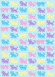 Cats pattern in pastel colors Stock Photography