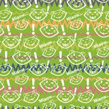 Cats pattern Stock Image