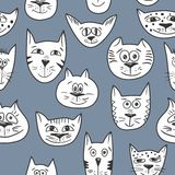 Cats pattern vector Stock Images
