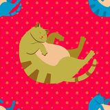 Cats pattern. Vector Colorful Cats Seamless Pattern Background Royalty Free Stock Photography