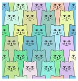 Cats pattern Royalty Free Stock Images