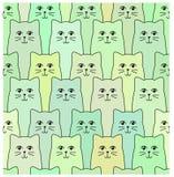 Cats pattern Stock Photo