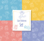 Cats Patterns Set stock photography