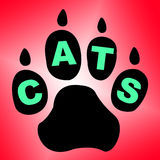 Cats Paw Shows Pet Services And Feline Stock Photos