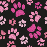 Cats paws seamless pattern. Vector animal print Stock Photography