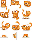 Cats. Playful cats. Set for page layout stock illustration