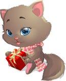 Cats and podarok Royalty Free Stock Image