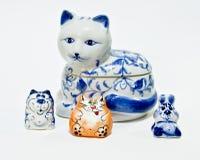 Cats and rabit Stock Photos