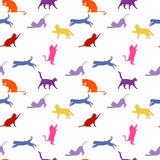 Cats. seamless baby background with colour cats. Royalty Free Stock Photos