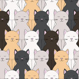 Cats seamless background. Cute and simple  seamless background Stock Photos