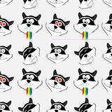 Cats seamless background.Vector EPS10 Royalty Free Stock Photos