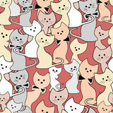 Cats seamless cute pattern Royalty Free Stock Photo