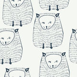 Cats seamless pattern. Animal background. Vector illustration Stock Photos