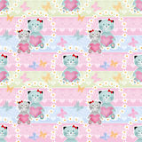 Cats seamless pattern background royalty free illustration