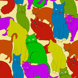 Cats seamless Pattern Background. Vector Illustration. Stock Images