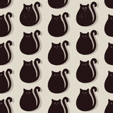 Cats seamless pattern. Black cats seamless pattern background Royalty Free Stock Photo