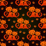 Cats seamless pattern Stock Photography