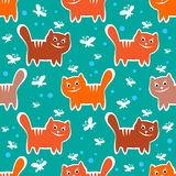 Cats seamless pattern Stock Images