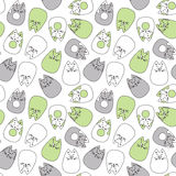 Cats seamless pattern. Cute cats eamless pattern. Vector illustration Stock Image