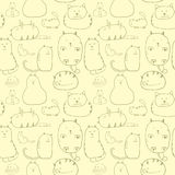 Cats seamless pattern Royalty Free Stock Photos