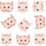 Cats  seamless pattern. It is located in swatch menu,  ima. Ge. Cute design, vector illustration Royalty Free Stock Photos