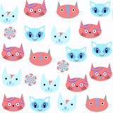 Cats seamless pattern. It is located in swatch menu,  imag Royalty Free Stock Photography