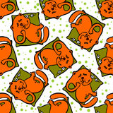 Cats seamless pattern Royalty Free Stock Image