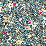 Cats seamless pattern. Royalty Free Stock Photography