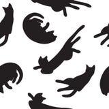 Cats seamless pattern stock illustration
