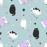 Cats seamless pattern royalty free illustration