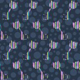 Cats seamless pattern. Vector illustration Royalty Free Stock Images