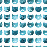 Cats seamless pattern. Vector. Vector triangle cats. Abstract ca Stock Image