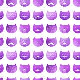 Cats seamless pattern. Vector. Vector triangle cats. Abstract ca Royalty Free Stock Photos