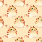 Cats, seamless pattern Royalty Free Stock Images