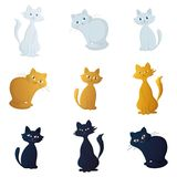 Cats, set Stock Image