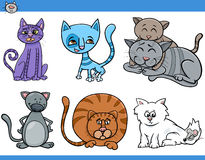 Cats set cartoon illustration Royalty Free Stock Photos