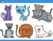 Cats set cartoon illustration Royalty Free Stock Photos