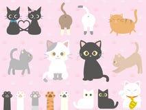 Cats set royalty free illustration