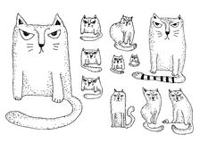 Cats set Royalty Free Stock Photography