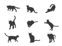 Cats silhouette vector illustration