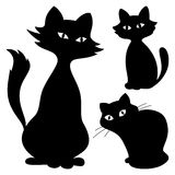 Cats, silhouette, set Royalty Free Stock Photography